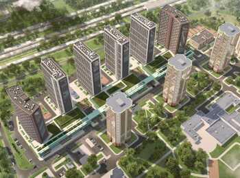 Вид на жилой комплекс сверху